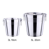 Stainless Steel Ice Bucket with Two Handles - WineProducts.net