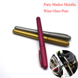 Metallic Wine Glass Pens - Clever Effective Way to Identify - WineProducts.net