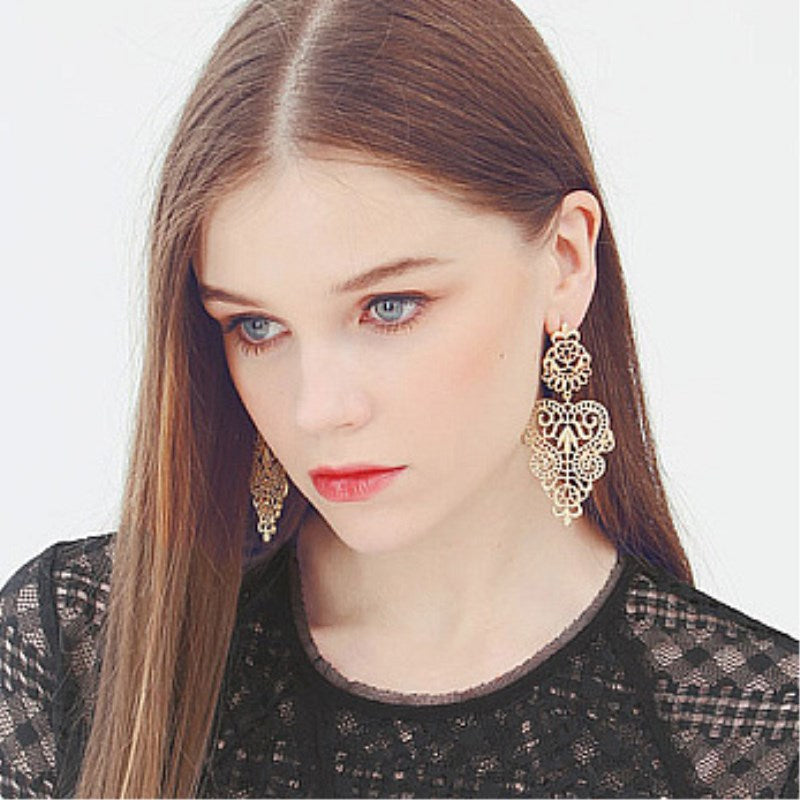 Bohemain Gold Statement Earrings