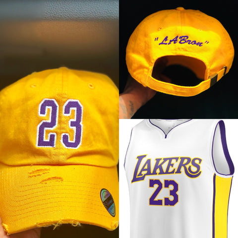 "Lebron James ""LABron"" Jersey Dad Cap"