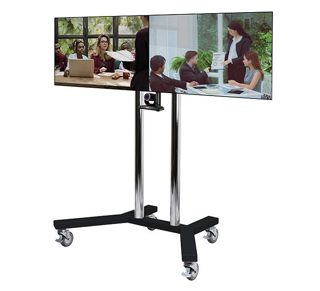B-Tech BT8511 Twin screen video conferencing trolley for screens up to 46 inch