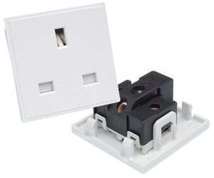 EP-13A50 UK 13A Mains Socket Module in White