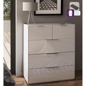 Frank Olsen Intel Large Chest in White with Wireless Phone Charging