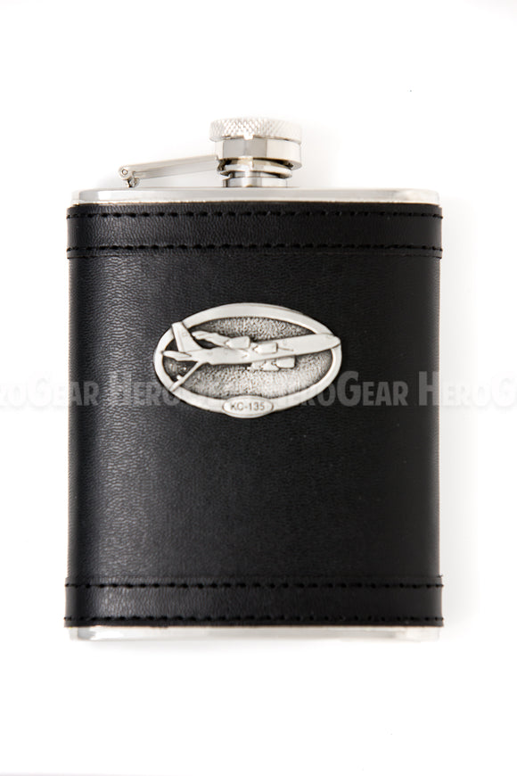 Covered BLACK Flask