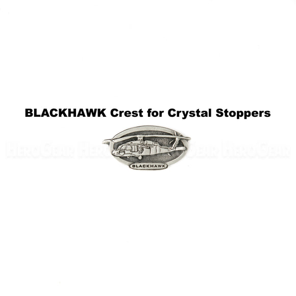 BLACK HAWK Military Helicopter Crystal Bottle Stoppers