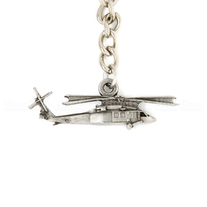 Black Hawk Helicopter 3D Pewter Key Chain or Bag Pull