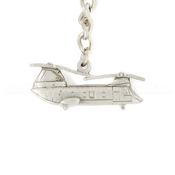 CH-46 Sea Knight 3D Pewter Key Chain and Bag Pull