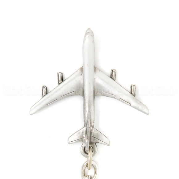 E-8 Joint STARS 3D Pewter Key Chain or Bag Pull