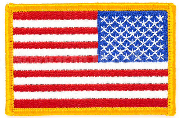 American Flag Patch Reverse