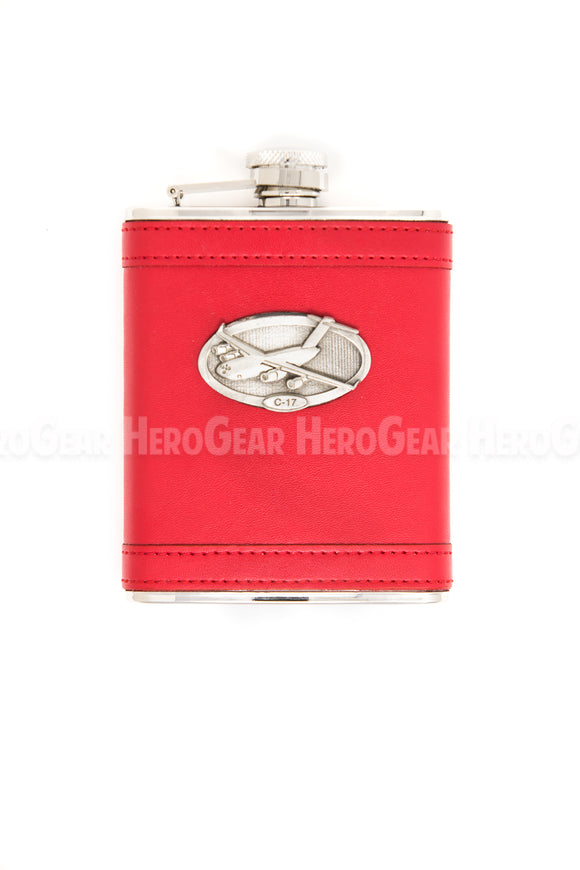 Covered RED Flask