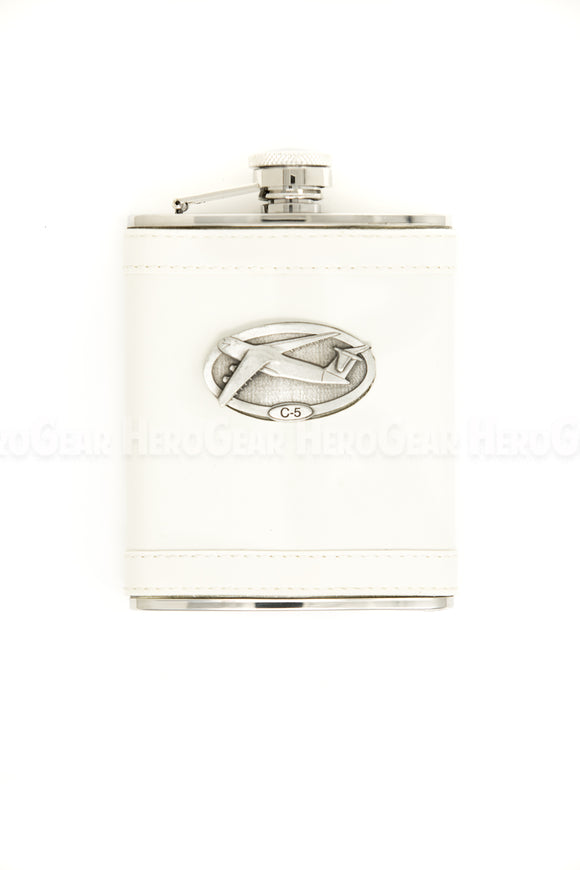 Covered WHITE Flask
