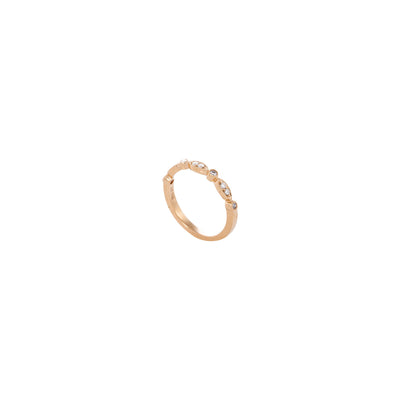 Verve Gold 18K Diamond Wedding 0.20ct fancy bead set half circle Band