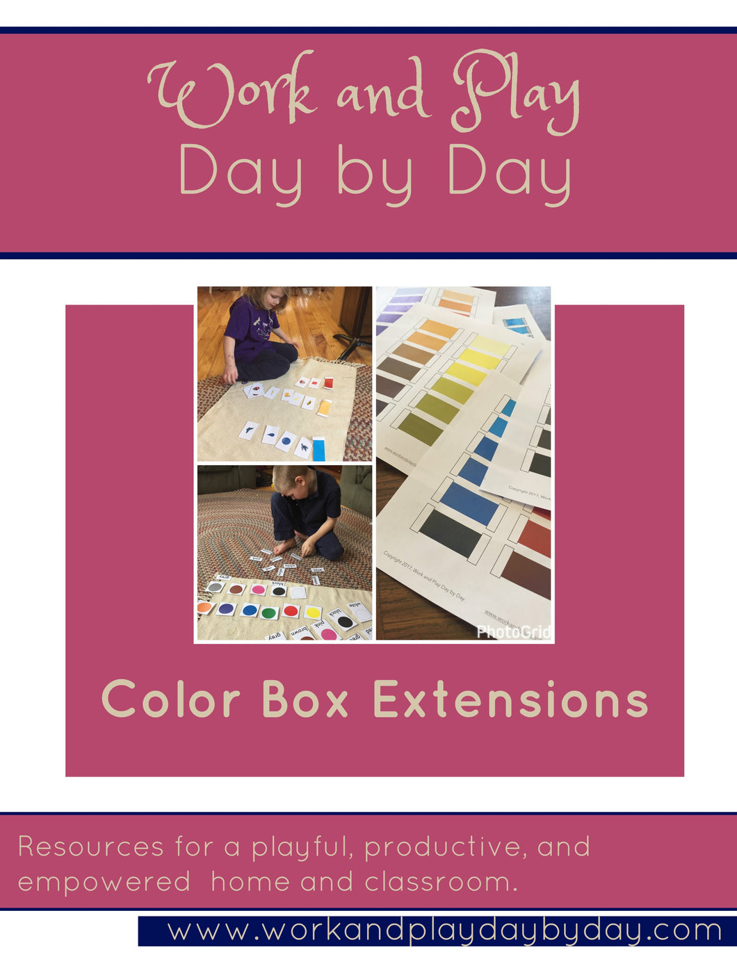 Extension Activities for Montessori Color Boxes 1-3