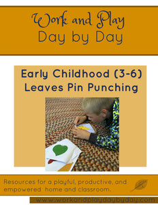 Early Childhood Fall Leaves Pin Punching