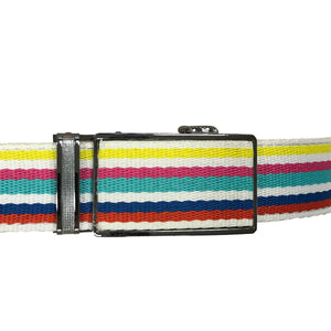 Women's Rainbow Leather Canvas Golf Belt - golfcovers