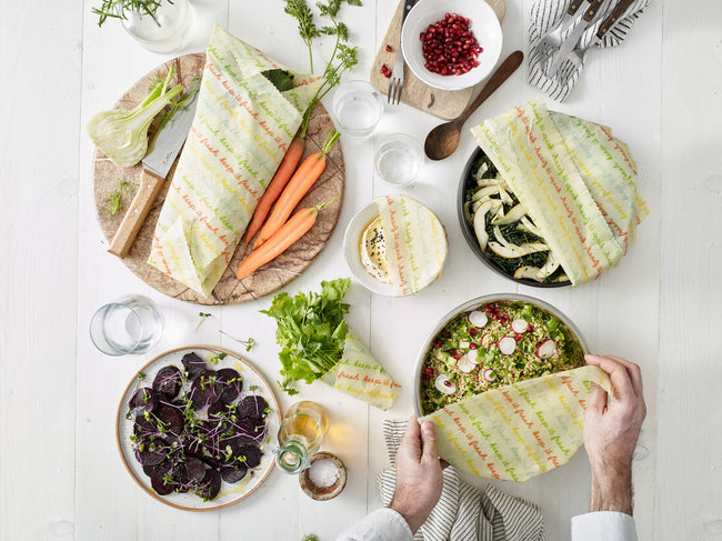 The Vegan Food Wrap Company, Eco Sandwich Wraps, Reusable Vegan Alternative to Clingfilm and single use plastics