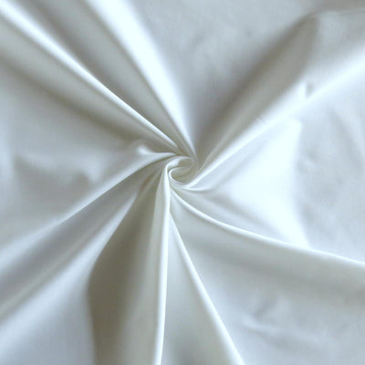 Carbon White Stretch Woven Fabric