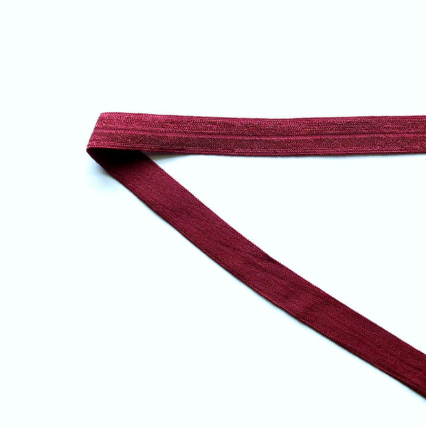 Wine Fold Over Elastic Trim