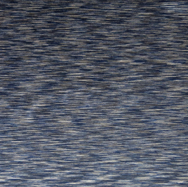 Navy/Charcoal Space Dye Poly Lycra Jersey Knit Fabric