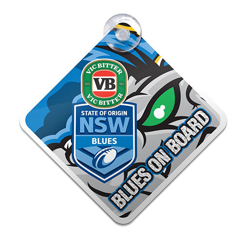 NRL NSW State of Origin Blues Car Sign
