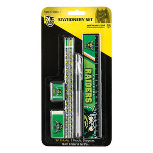 NRL Stationary Set 5 Piece  - Canberra Raiders