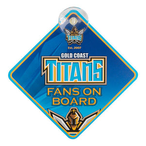 NRL Gold Coast Titans Supporters Car Sign