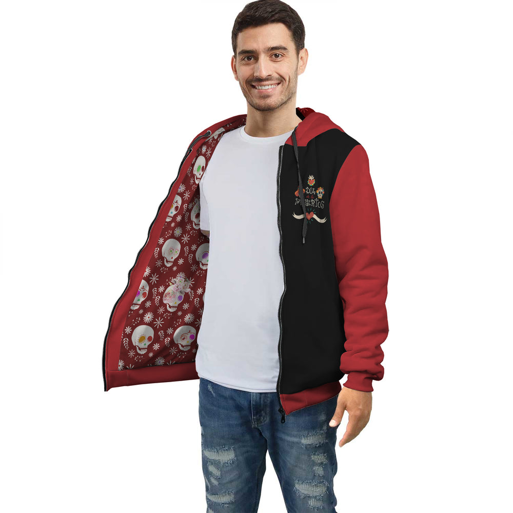 Day Of The Dead Red And Black Hoodie
