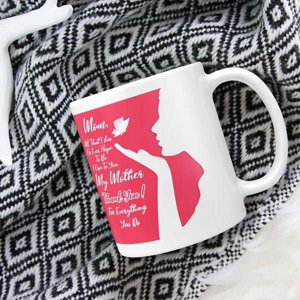Mom Coffee Mug I Love Mom Mug