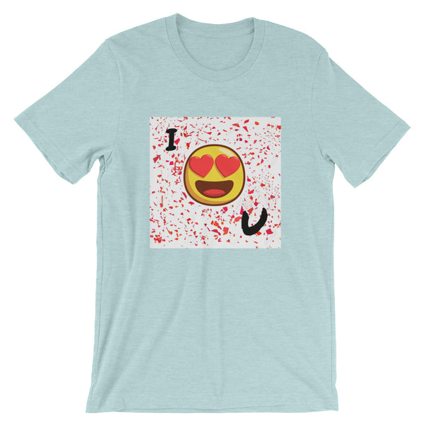 Love You Short-Sleeve T-Shirt-Heather Prism Ice Blue