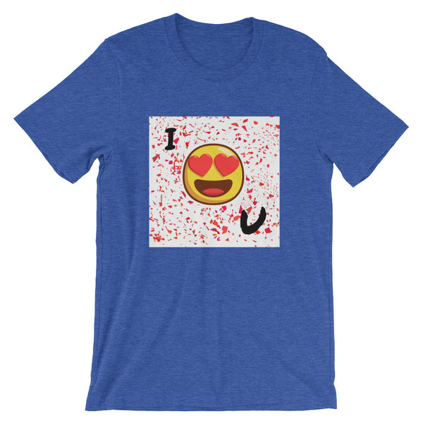 Love You Short-Sleeve T-Shirt-Heather True Royal