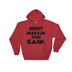Squat And Gain Hoodie Sweatshirt - Red