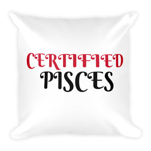 Certified Pisces Square Pillow Design - Certified227