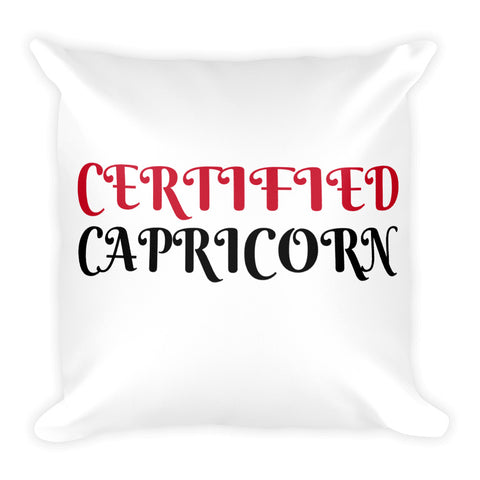 Certified Capricorn Square Pillow Design - Certified227