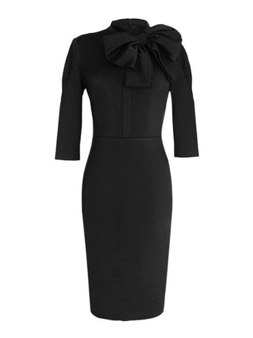 1960ER SCHLEIFE WIGGLE PENCIL KLEID
