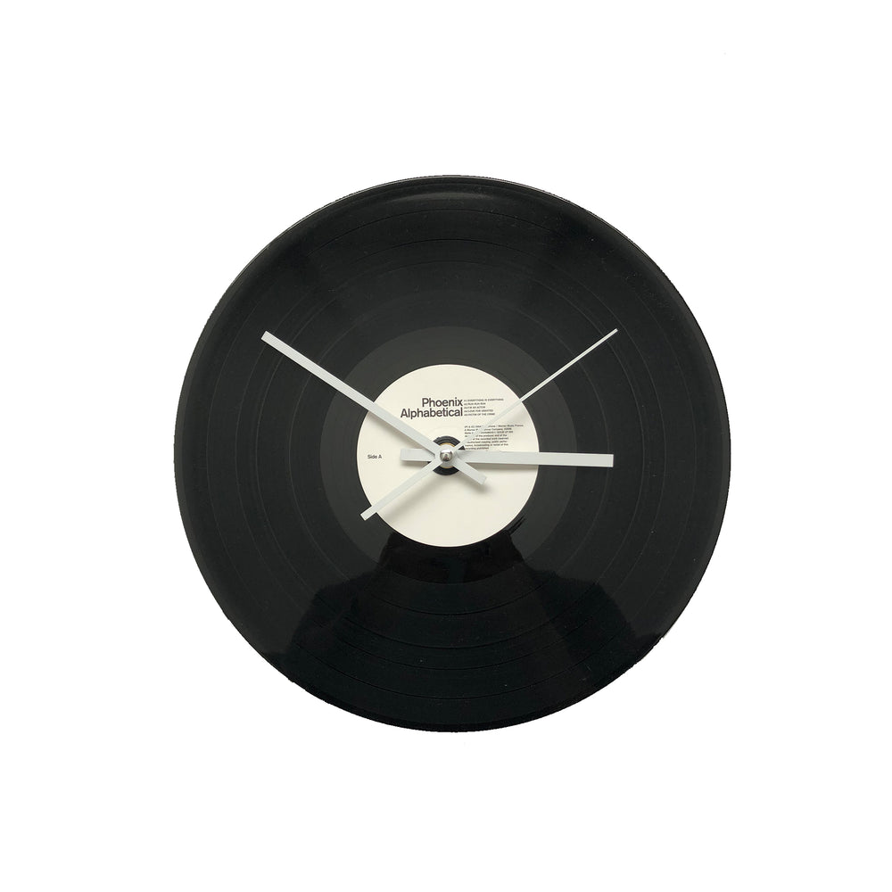 "Phoenix - Alphabetical 12"" Vinyl Clock"