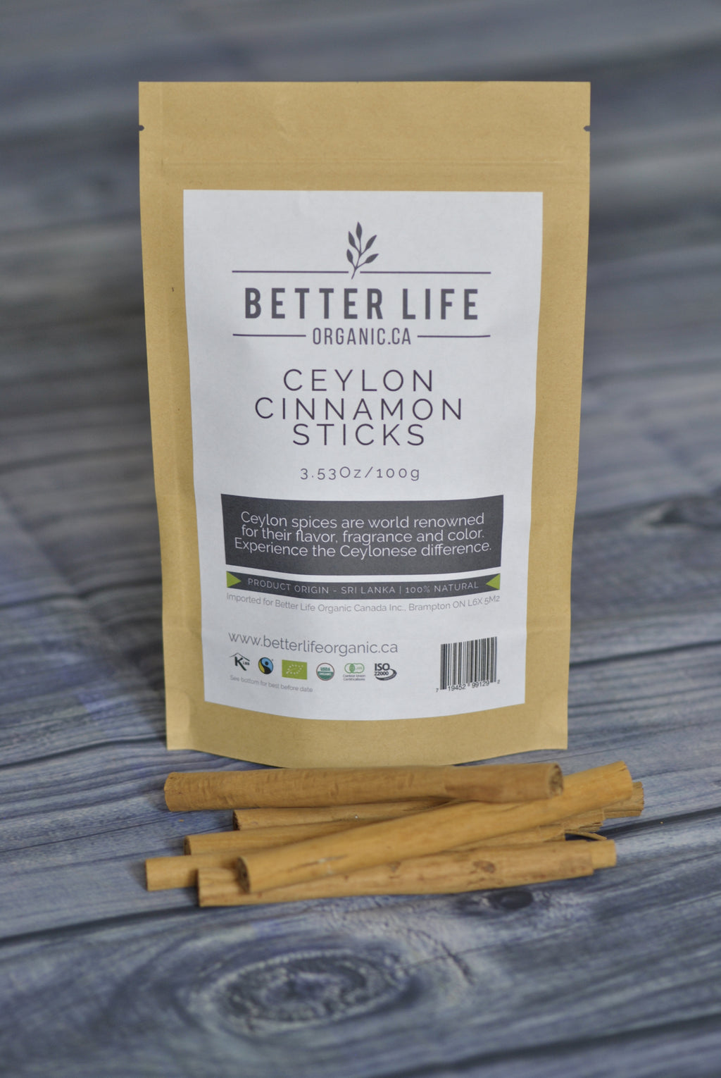 Organic Ceylon Cinnamon Sticks -  Better Life Organic