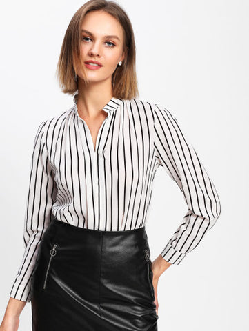 Adult*ish Pinstripe Top