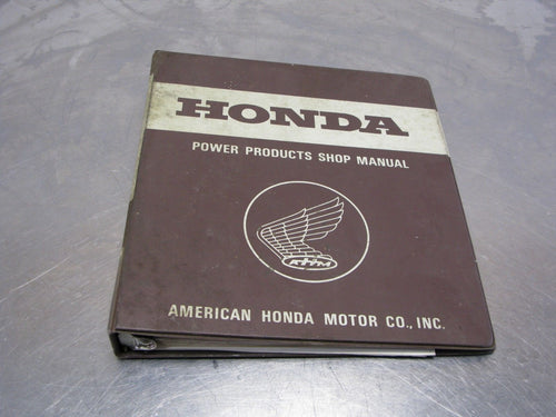 Honda Portable Generator Troubleshooting Guide Power Products Shop Manual 1983