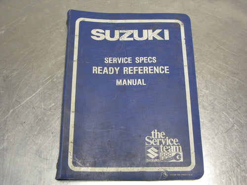 Suzuki Service Specs Ready Reference Manual 1984