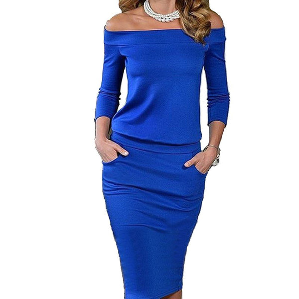 New Style Elegant Summer Dress 3/4 Sleeve