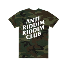 Load image into Gallery viewer, ANTI RIDDIM CLUB TEE (CAMO/WHITE)