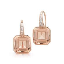 OTTOLINE 18K MORGANITE AND DIAMOND BAGUETTE EARRINGS