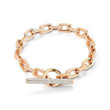 SAXON 18K DIAMOND TOGGLE CHAIN LINK BRACELET