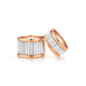 CLIVE TWO TONE 10MM FLUTED BAND RING