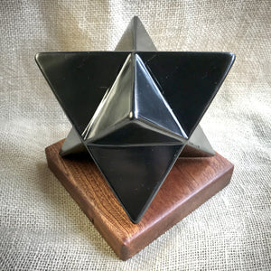 Shungite Merkaba, 4 Inches, 100mm, EMF Protection, Hand Carved
