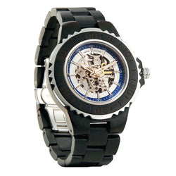 Men's Genuine Automatic Ebony Wooden Watches No Battery Needed wooden watches Wilds Wood