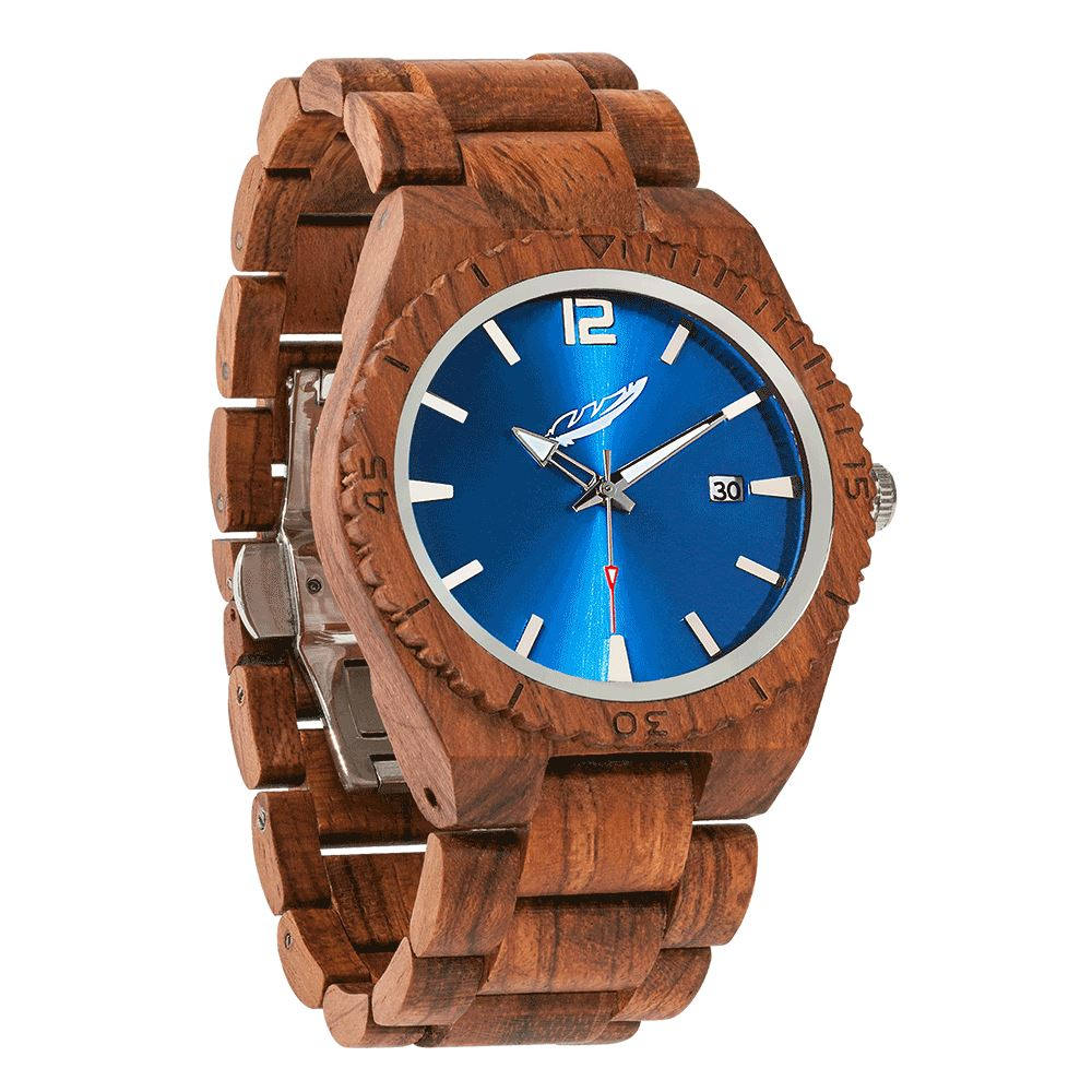 Men's Personalized Engrave Kosso Wood Watches - Free Custom Engraving wooden watches Wilds Wood