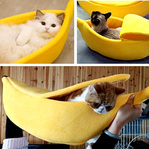 Banana Cave Pet Bed - Special