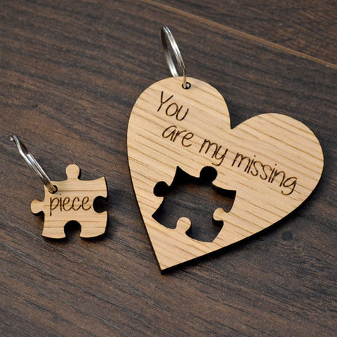 You're My Missing Piece Keychain Set - Looker Gifts