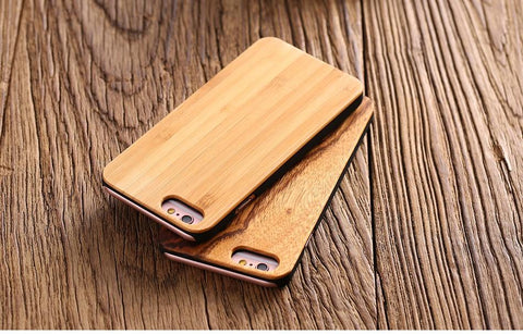 Natural Real Wood Bamboo Phone Case - Looker Gifts